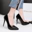 รองเท้าตัดชูปลายแหลมทรงสวยสีดำ/แดง/เทา/นู๊ด ไซต์ 34-39 thumbnail 8