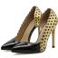 รองเท้าส้นสูงปลายแหลมสีทอง/ชมพูนู๊ด ไซต์ 35-40 thumbnail 7