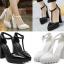 รองเท้าส้นสูงสีขาว/ดำ ไซต์ 35-40 thumbnail 1