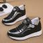 รองเท้าผ้าใบเสริมส้นสีขาว/ดำ ไซต์ 35-39 thumbnail 7