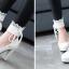 รองเท้าส้นสูงคัดชูสีชมพู/ดำ/ขาว ไซต์ 34-43 thumbnail 5