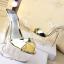 รองเท้าส้นสูงส้นแก้วคริสตัลแบบสวมสีทอง/ขาว ไซต์ 34-39 thumbnail 6