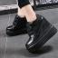 รองเท้าผ้าใบเสริมส้นสีชมพู/ดำ/เงิน ไซต์ 35-39 thumbnail 4