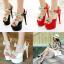 รองเท้าส้นสูงสีขาว/ดำ/แดง ไซต์ 34-39 thumbnail 1