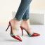รองเท้าส้นสูงปลายแหลมแบบสวมสีแดง/ชมพู/ดำ/ครีม ไซต์ 34-38 thumbnail 7