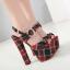 รองเท้าส้นสูงลานสก๊อตสีแดง ไซต์ 34-40 thumbnail 1