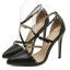 รองเท้าส้นสูงสายไขว้สีครีม/ดำ ไซต์ 35-40 thumbnail 8