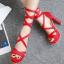 รองเท้าส้นสูงสีหวานชมพู/แดง/ดำ/ครีม ไซต์ 34-40 thumbnail 4