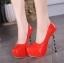 รองเท้าส้นสูง ไซต์ 35-40 สีดำ สีแดง สีขาว thumbnail 8