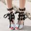 รองเท้าส้นสูงสีดำ/ดำ-ขาว ไซต์ 34-39 thumbnail 6
