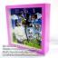 014-มิกซ์รูป นาฬิกากระจก ขอบพลาสติก สี่เหลี่ยม 16x16 cm thumbnail 1
