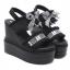 รองเท้าส้นเตารีดแบบเก๋สีดำ ไซต์ 34-39 thumbnail 3