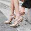 รองเท้าส้นสูงสายไขว้สีครีม/ดำ ไซต์ 35-40 thumbnail 2