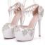 รองเท้าเจ้าสาวสีขาวติดคริสตัลเพชร์ ไซต์ 34-41 thumbnail 4