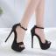 รองเท้าส้นสูงแบบเรียบแต่เก๋สีดำ/เทา ไซต์ 34-40 thumbnail 2