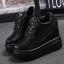 รองเท้าผ้าใบเสริมส้นสีชมพู/ดำ/เงิน ไซต์ 35-39 thumbnail 9