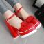 รองเท้าส้นสูงสีแดง/ครีม/ขาว/ดำ ไซต์ 34-39 thumbnail 8