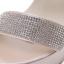 รองเท้าส้นสูงสายคาดแต่งคริสตัลเม็ดเล็กสวยหรู สีครีม/ดำ ไซต์ 35-39 thumbnail 6