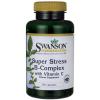 Swanson Super Stress Vitamin B-Complex with Vitamin C 100 capsules วิตามินบีรวมผสมวิตามินซี ต้านความเครียด บำรุงสมองและระบบประสาท ทานแค่อย่างเดียวครบ