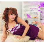 SC001-Cheery purple ชุดนอนน่ารัก แอบเซ็กซี่สีม่วง