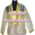 เสื้อผ้าแก้ว-แขนยาว K4 สีเหลือง (รอบอก 34 นิ้ว) รายละเอียดในหน้าสินค้า / **ไม่รวมเกาะอก
