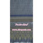 ผ้าลายไทย-H1 สีน้ำเงิน (ความยาว 2 หลา)