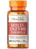 Puritan's Pride Multi Enzyme Formula เอนไซม์ช่วยระบบเผาผลาญ 100 เม็ด