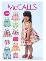 แพทเทิร์นตัดชุดเด็กหญิง Mccalls 6944 Size: 6M-1-2-3-4