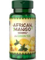 African Mango Extract Plus Green Tea 1200 mg. 60 Capsules เร่งเผาพลาญ ลดความหิว