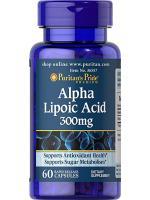 Puritan Alpha Lipoic Acid 300 mg 60 Capsules. ALA ชะลอวัย ต้านอนุมูลอิสระ เร่งขาวเมื่อทานคู่กลูต้า
