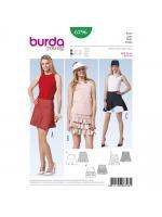 แพทเทิร์นตัดกระโปรง เก๋ๆ ยี่ห้อ Burda Style (6796) ไซส์: 8-10-12-14-16-18