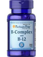 Puritan Vitamin B-Complex And Vitamin B-12 180 เม็ด บำรุงสมองประสาท ลดอาการปวดไมเกรน ผิวหนังและเส้นผม ลดการเกิดสิว