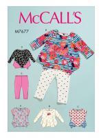 แพทเทิร์นตัดเสื้อและเลกกิ้ง Mccalls 7677 Size: NB-S-M-L-XL
