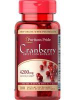 Puritan Cranberry 4200 mg 100 Softgels.แครนเบอรี่สกัดเข้มข้น แก้ปัญหาเชื้อราและแบคทีเรียในช่องคลอด