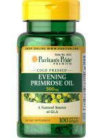 Puritan's Pride Evening Primrose oil 500mg 100 softgels น้ำมันอีฟนิ่งพริมโรส ลดการปวดท้องประจำเดือน ลดอาการแปรปรวนของผู้หญิง ช่วยให้ผิวไม่หยาบกร้าน