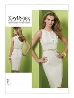 แพทเทิร์นตัดเดรสสตรี งานดีไซน์เนอร์ Vogue 1183AA Size: 6-8-10-12 (อก 30.5-34 นิ้ว)
