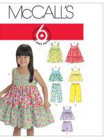 แพทเทิร์นตัดชุดเด็กหญิง Mccalls 6017 Size: 1-2-3