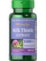 Milk Thistle Extract 1000mg. (Silymarin) 90 ซอฟเจล ต้านอนุมูลอิสระ Detoxและปกป้องสารพิษเข้าสู่ตับ เพื่อระดับกลูต้าในร่างกาย