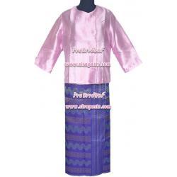 ชุดพม่า A7 (เสื้อฯ+ผ้าถุงฯ) *รายละเอียดในหน้าสินค้า