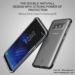 Samsung S8 Plus - เคสใส TPU BASEUS ARMOR CASE แท้