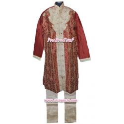 ชุดบรูไน-ชาย 10 สีเลือดหมู (เสื้อ-กางเกง) {ตรวจสอบ/ระบุขนาด}