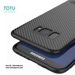 Samsung S8 Plus - เคส TPU ลายเคฟล่า Carbon พร้อมขาตั้ง TOTU DESIGN แท้