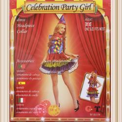 ชุดแฟนซีตัวตลก ตัวการ์ตูนผู้หญิง Celebration Party Girl สวยน่ารัก สนุกสนาน