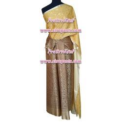 ชุดผ้าไทย-สไบผ้าลาย B2-F1 (สไบฯ+ผ้าฯ 4 หลา*แบบจับสด) *รายละเอียดในหน้าสินค้า