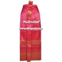 ผ้าถุงป้าย-หน้านาง B1-2 สีบานเย็น (เอวใส่ได้ถึง 26 นิ้ว) *แบบสำเร็จรูป-รายละเอียดตามหน้าสินค้า