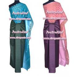 ชุดผ้าไทย-สไบลาย I2 (สไบฯ+ผ้าฯ 4 หลา) *แบบจับสด/รายละเอียดในหน้าสินค้า