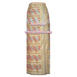 ผ้าถุงป้าย-พม่า สีเหลือง (เอวใส่ได้ถึง 32 นิ้ว) *รายละเอียดตามหน้าสินค้า