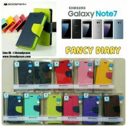 Samsung Note7 / Note FE - เคสฝาพับ Mercury Goospery Fancy Leather Case cover แท้