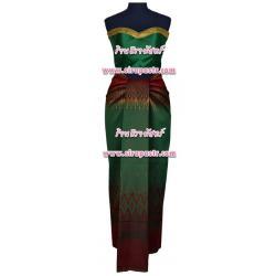 ชุดไทย-ประยุกต์ สีเขียว (เกาะอก+ผ้าฯ*แบบจับสด) *รายละเอียดตามหน้าสินค้า