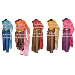 ชุดผ้าไทย-สไบลาย I1 (สไบฯ+ผ้าฯ 4 หลา) *แบบจับสด/รายละเอียดในหน้าสินค้า